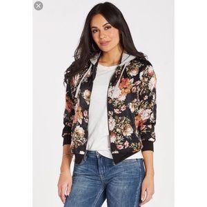 Socialite Floral Hooded Bomber Jacket